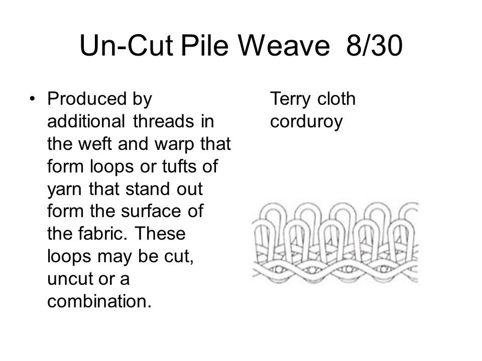 Un-Cut Pile Weave 8/30