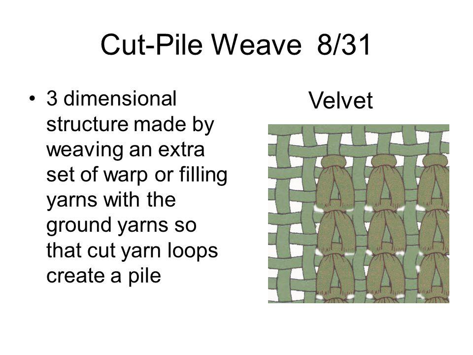Cut-Pile Weave 8/31 Velvet