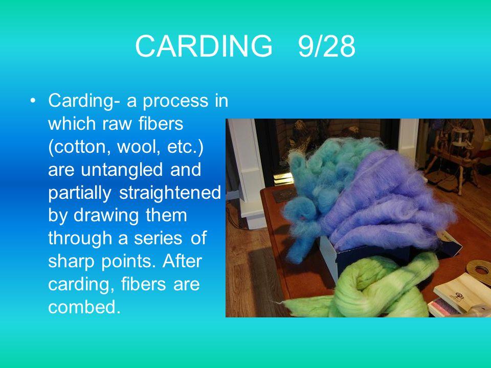 CARDING 9/28