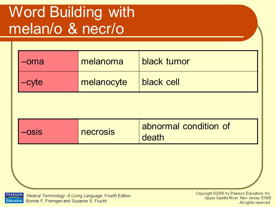 Word Building with melan/o & necr/o