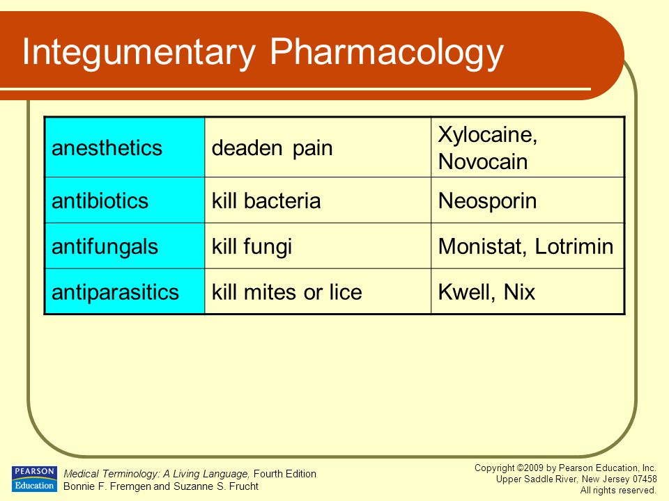 Integumentary Pharmacology