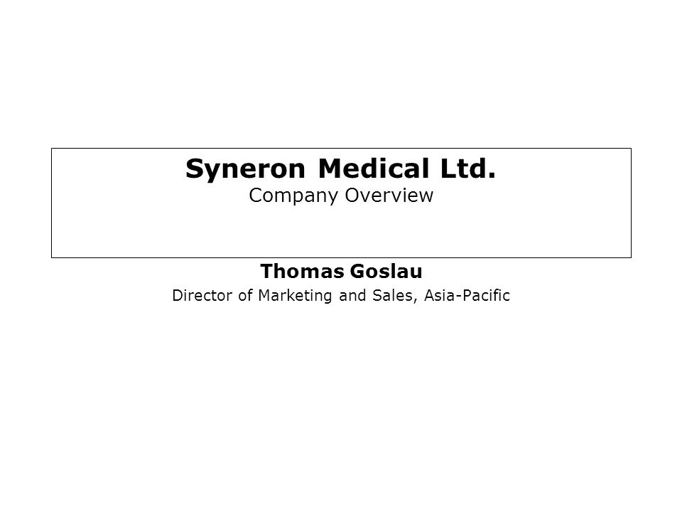 Syneron Medical Ltd. Company Overview