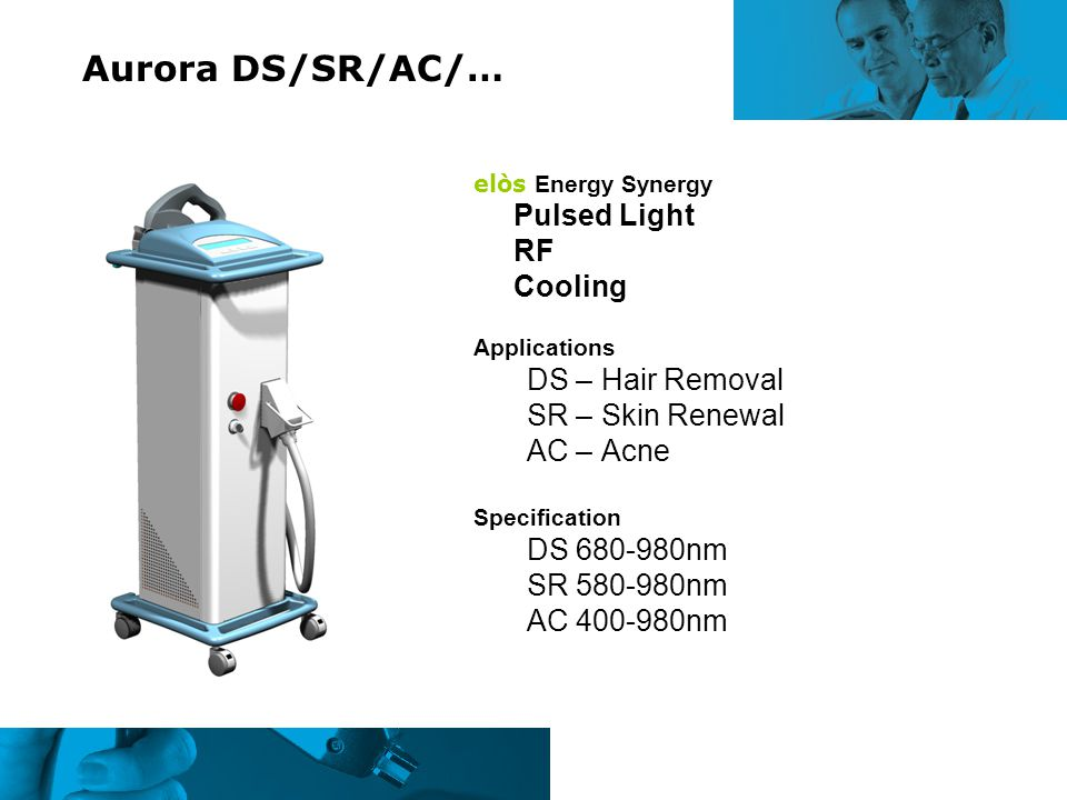 Aurora DS/SR/AC/… RF Cooling DS – Hair Removal SR – Skin Renewal