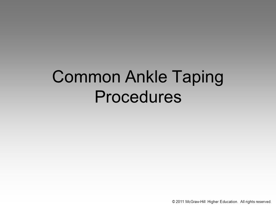 Common Ankle Taping Procedures