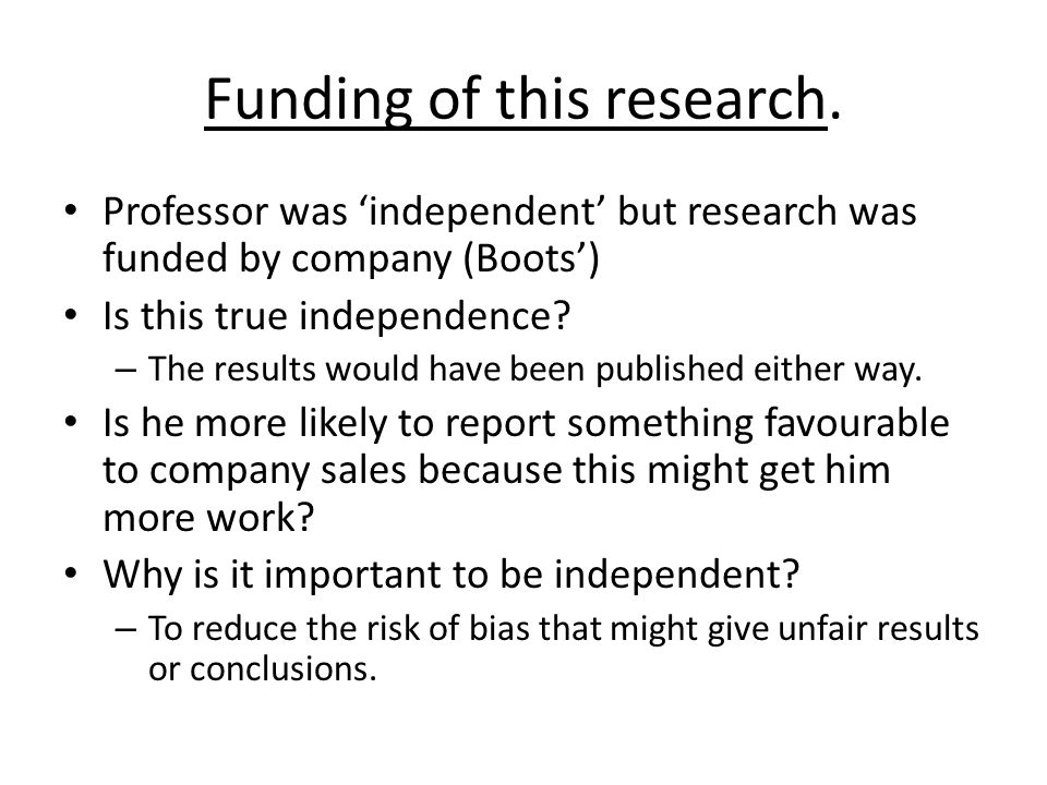 Funding of this research.