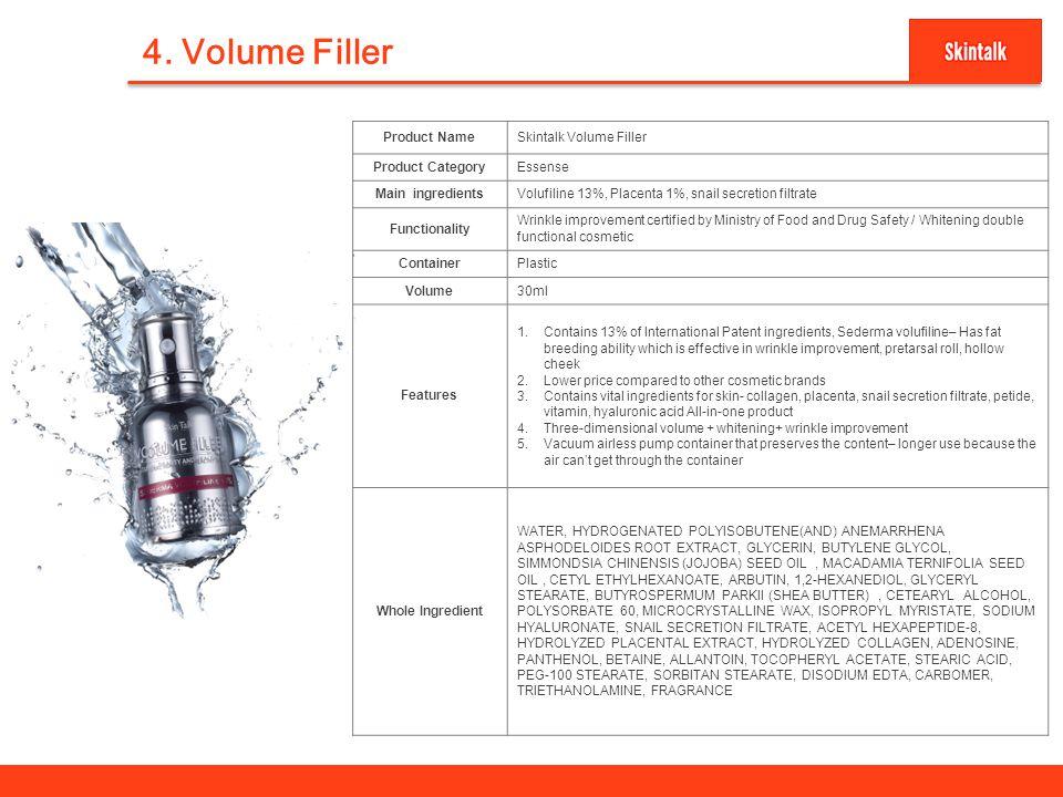 4. Volume Filler 7 Product Name Skintalk Volume Filler