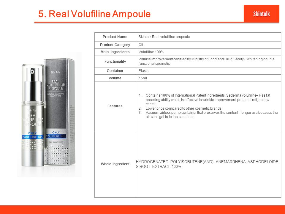 5. Real Volufiline Ampoule