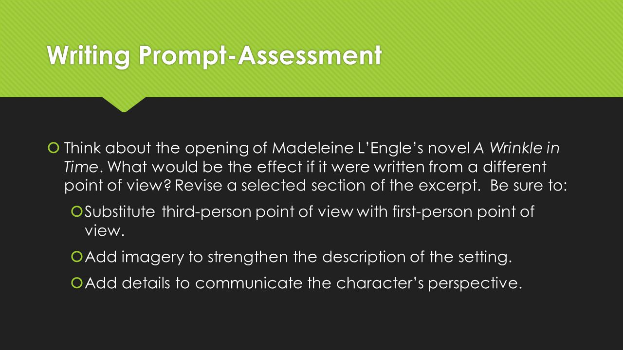 Writing Prompt-Assessment