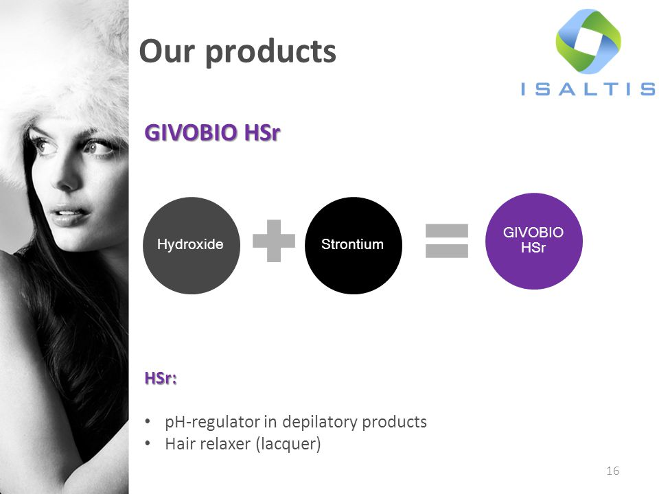 Our products GIVOBIO HSr HSr: pH-regulator in depilatory products