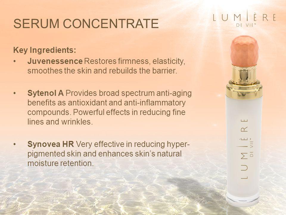 SERUM CONCENTRATE Key Ingredients: