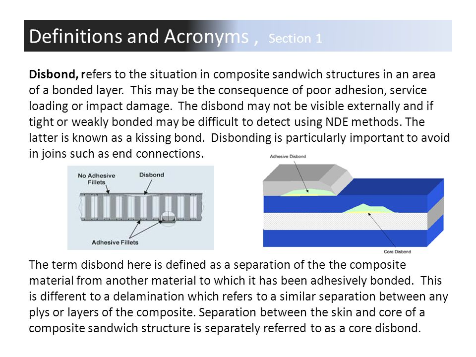 Definitions and Acronyms , Section 1