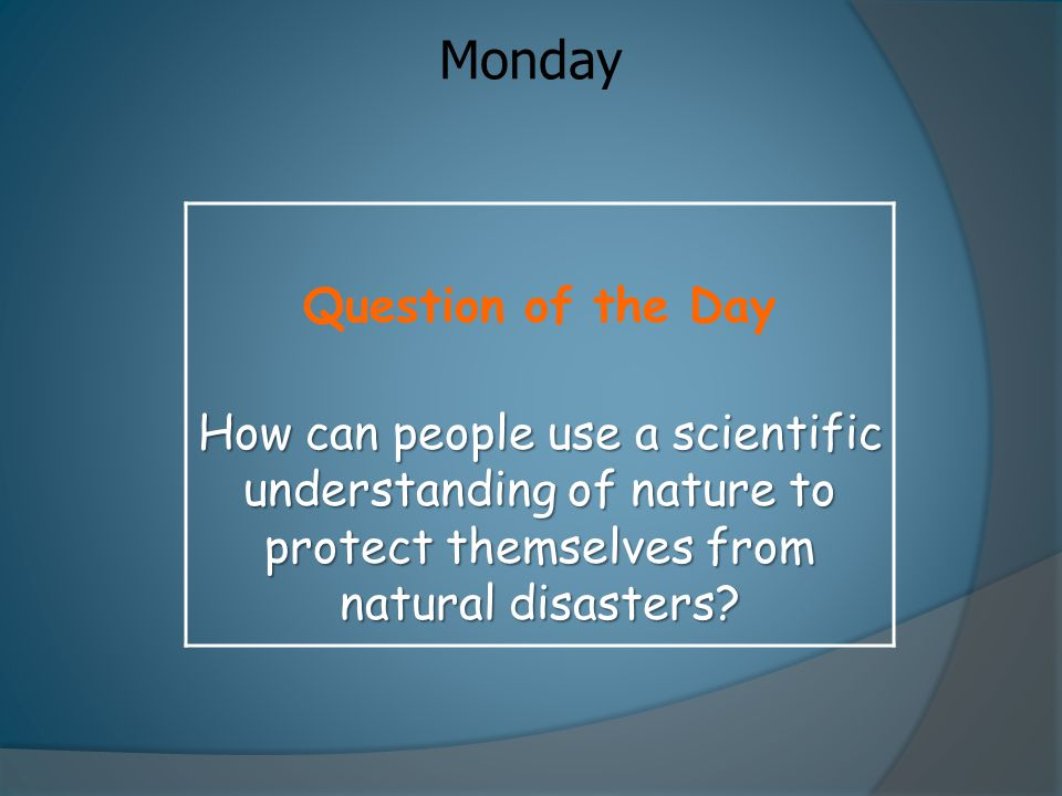 Monday Question of the Day
