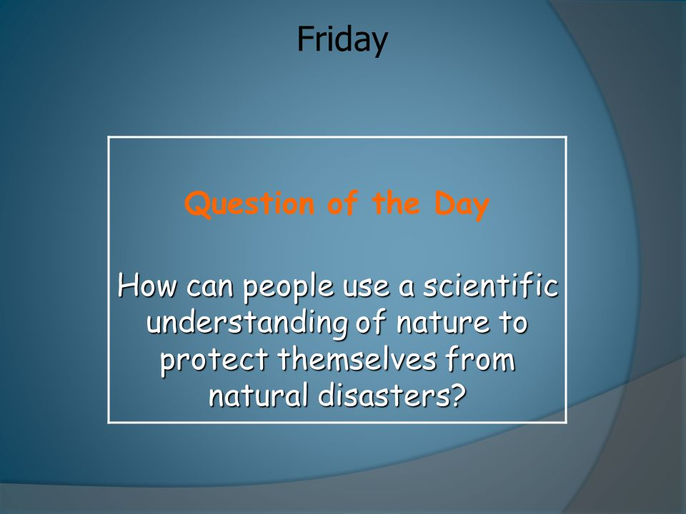 Friday Question of the Day