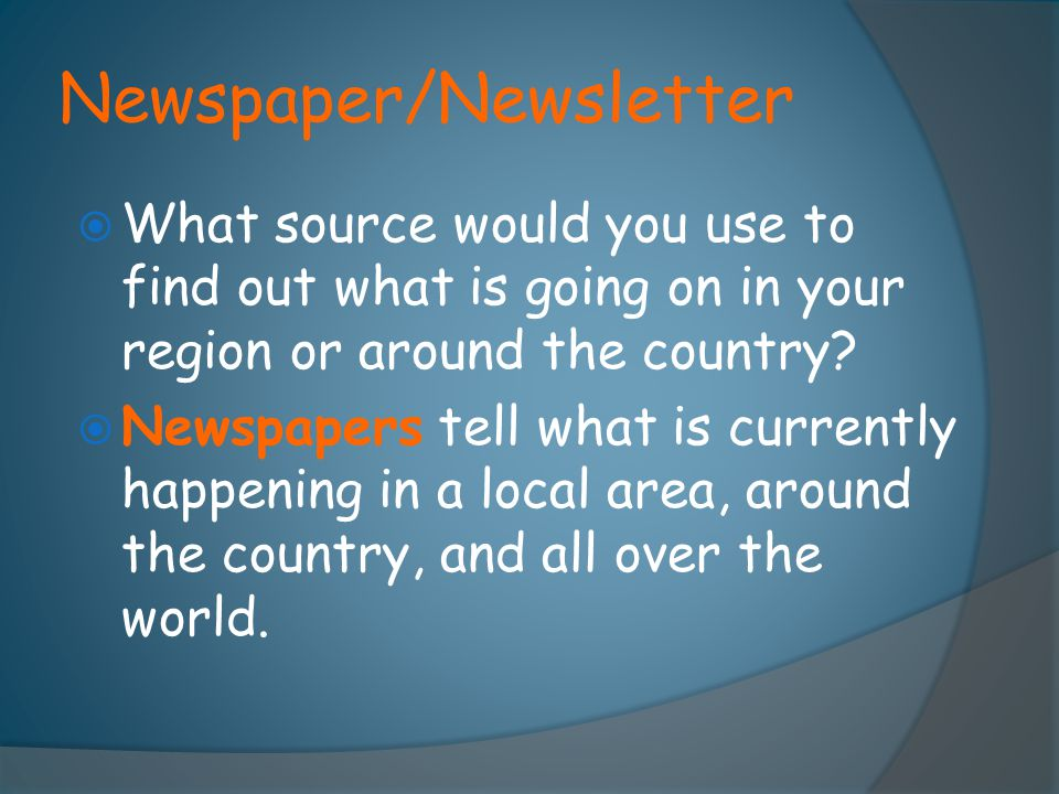 Newspaper/Newsletter