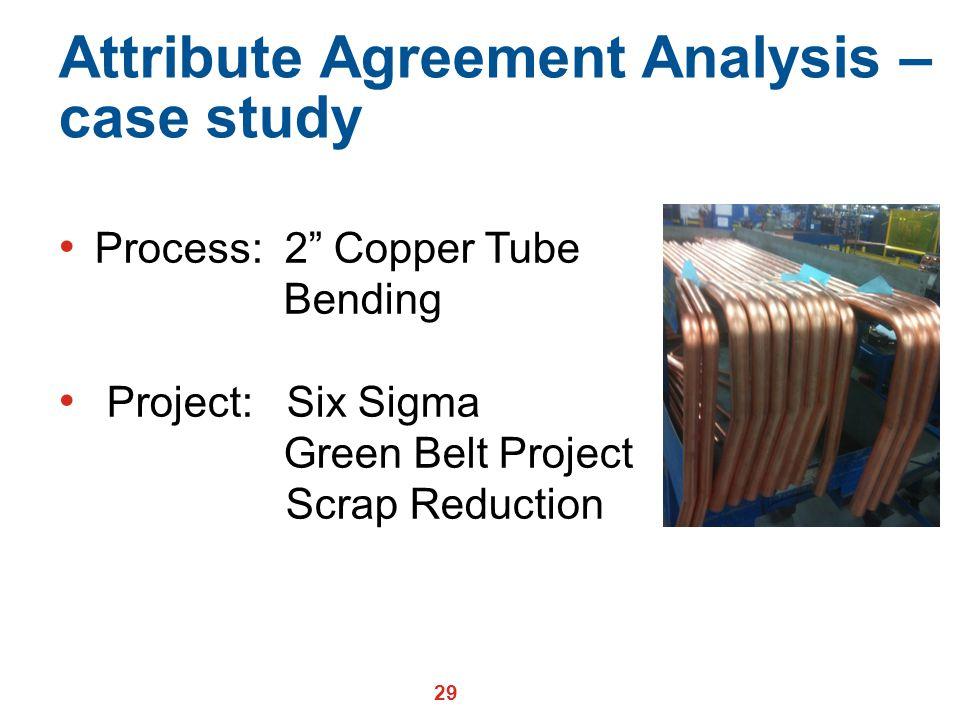 Attribute Agreement Analysis – case study