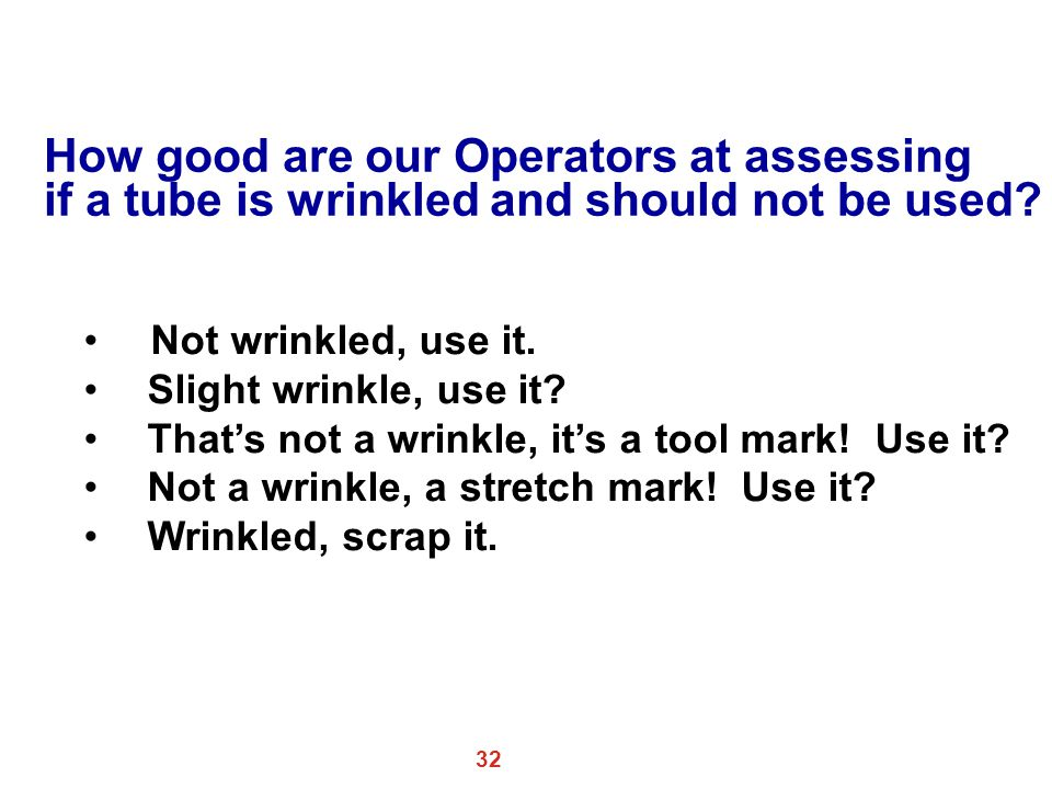 How good are our Operators at assessing