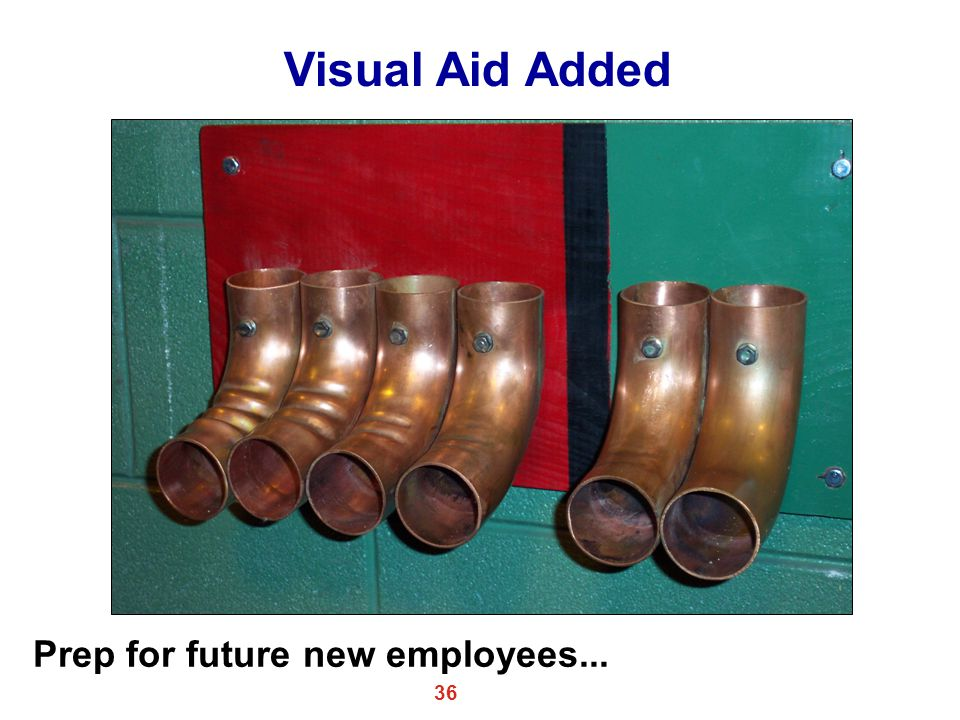 Visual Aid Added Prep for future new employees...