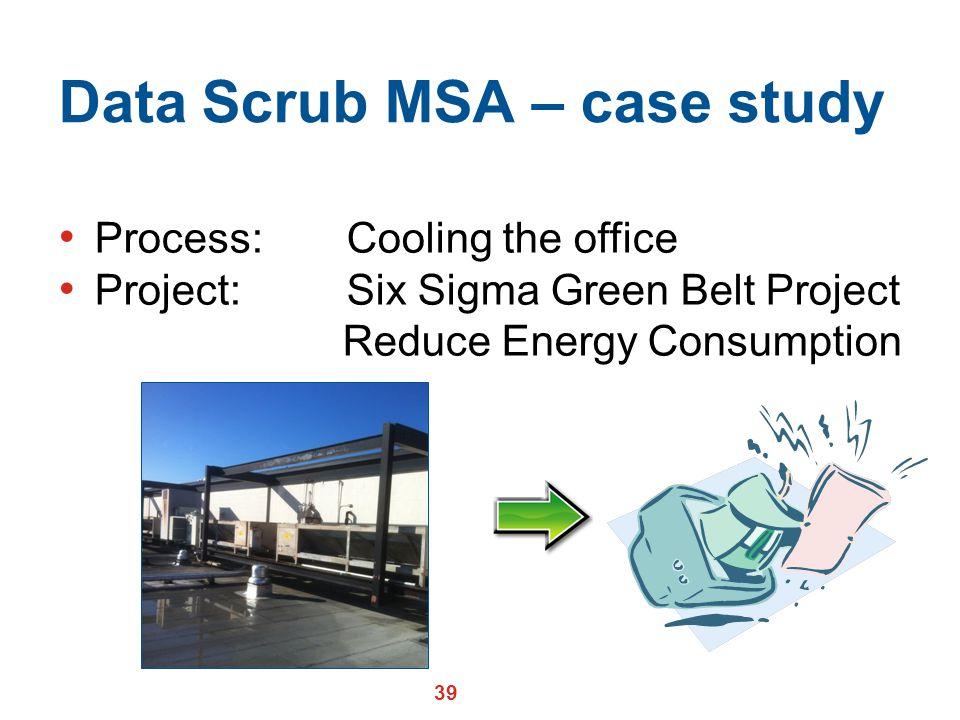 Data Scrub MSA – case study