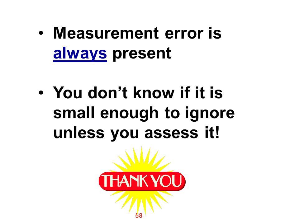 Measurement error is always present