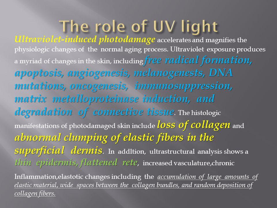 The role of UV light