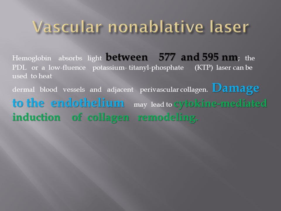Vascular nonablative laser