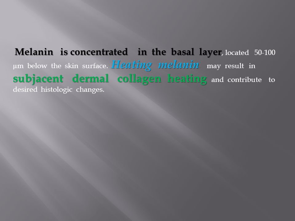 Melanin is concentrated in the basal layer, located 50-100 µm below the skin surface.