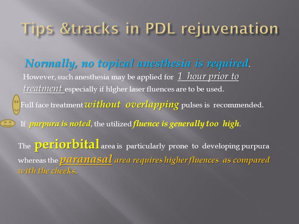 Tips &tracks in PDL rejuvenation