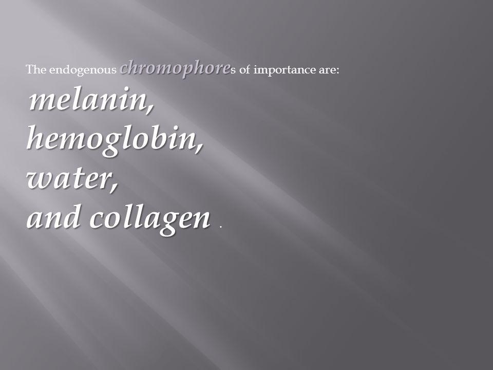 hemoglobin, water, and collagen .