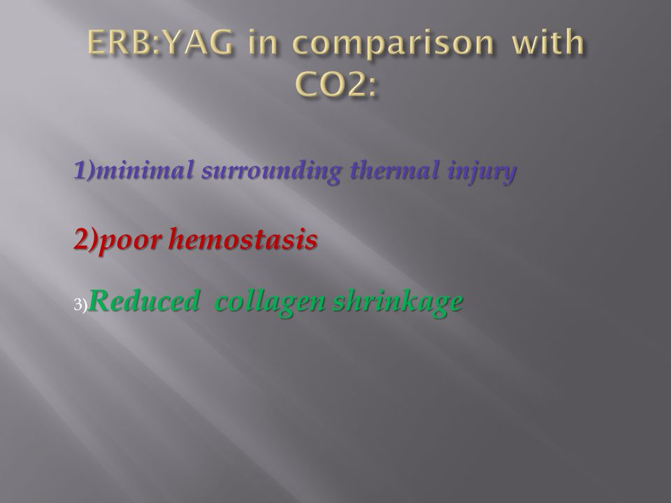 ERB:YAG in comparison with CO2: