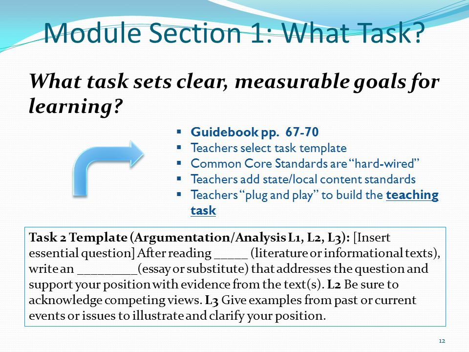 Module Section 1: What Task