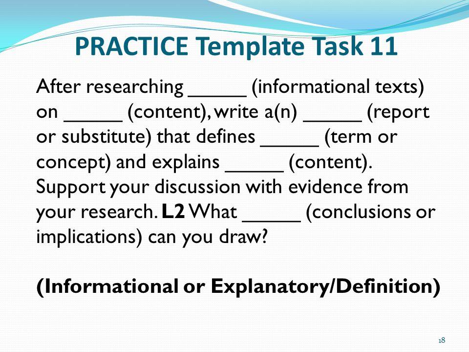 PRACTICE Template Task 11