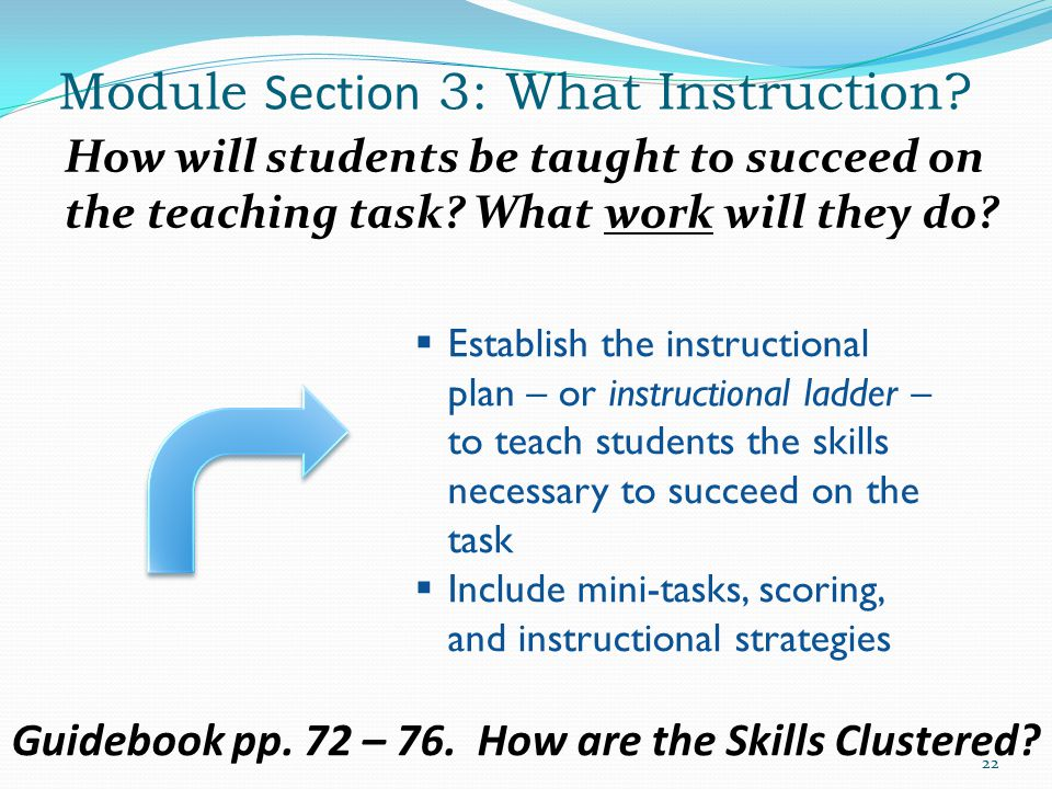 Module Section 3: What Instruction