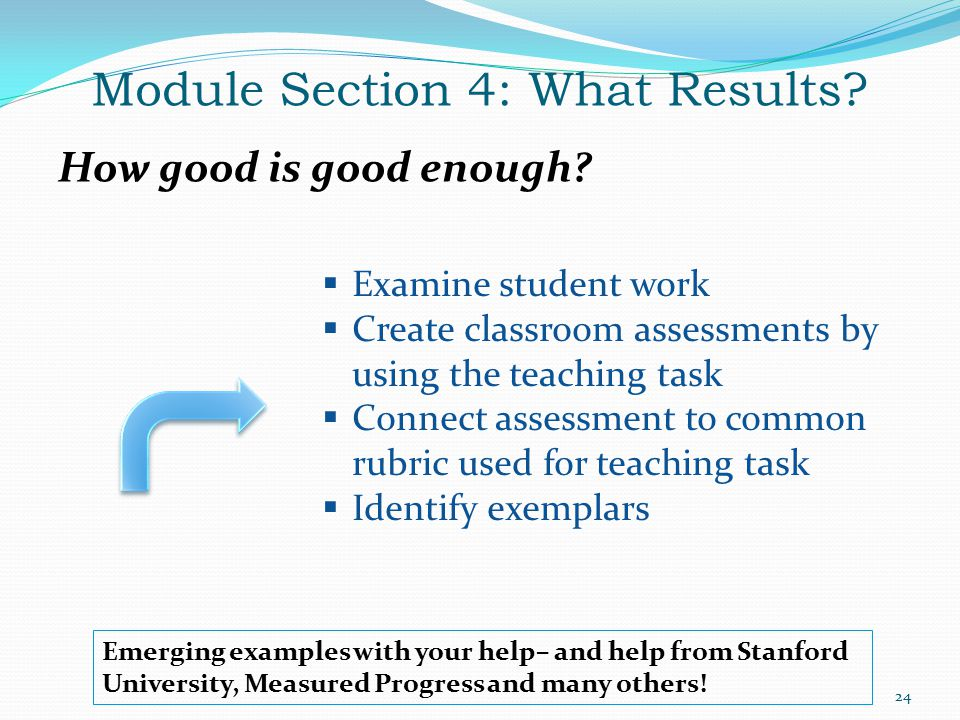 Module Section 4: What Results