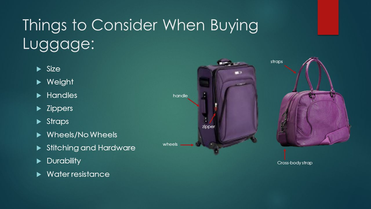 Things to Consider When Buying Luggage:
