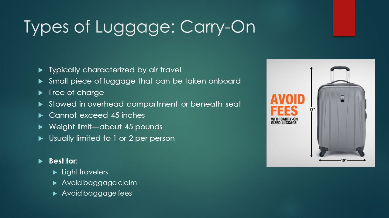 Types of Luggage: Carry-On