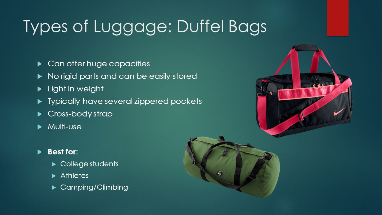Types of Luggage: Duffel Bags