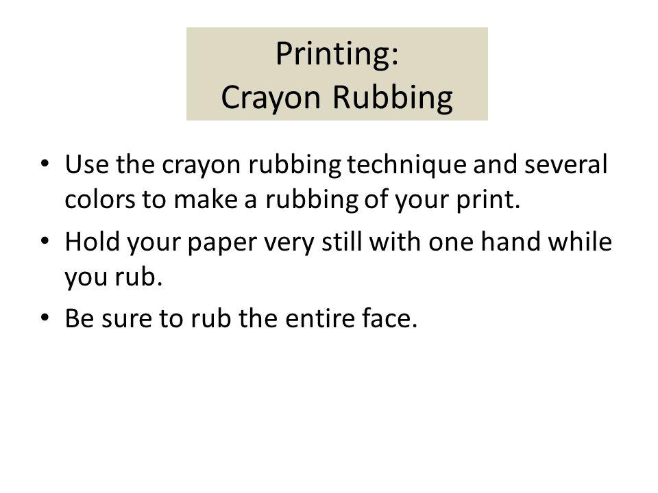 Printing: Crayon Rubbing