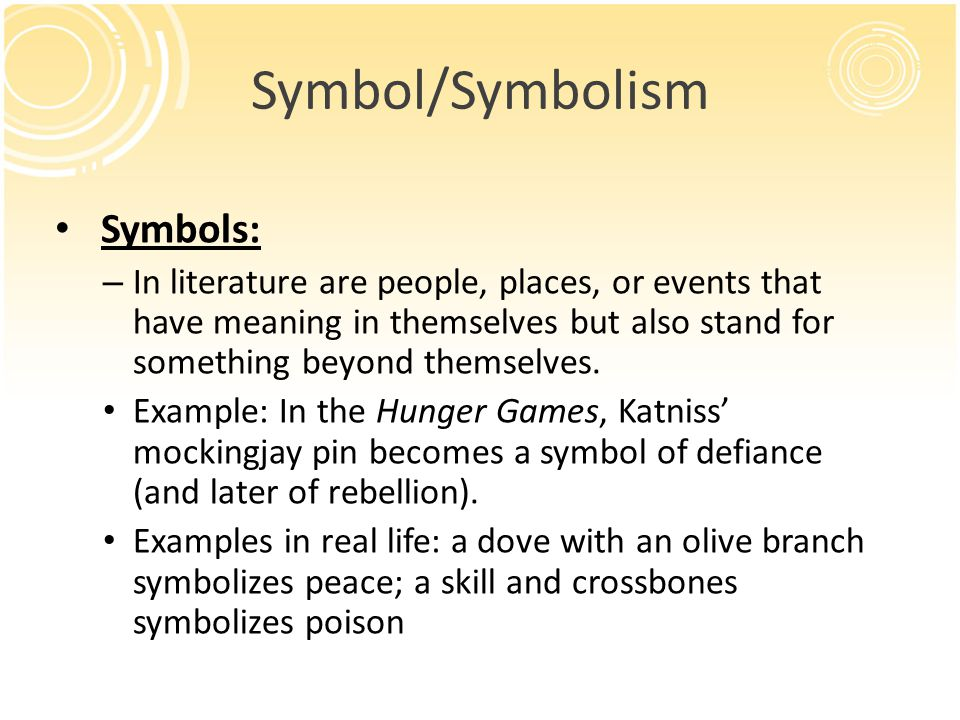 Example Of Symbol In Literature What Are Conventional Symbols