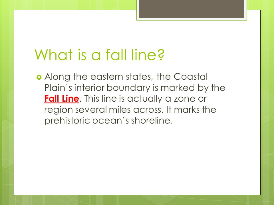 What is a fall line