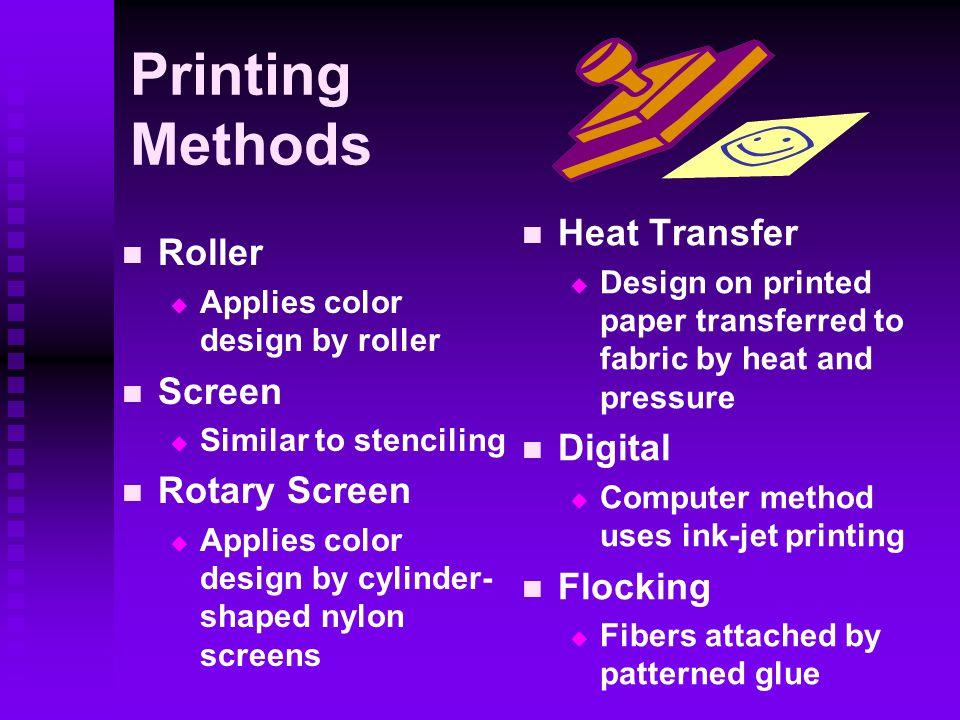 Printing Methods Heat Transfer Roller Screen Digital Rotary Screen