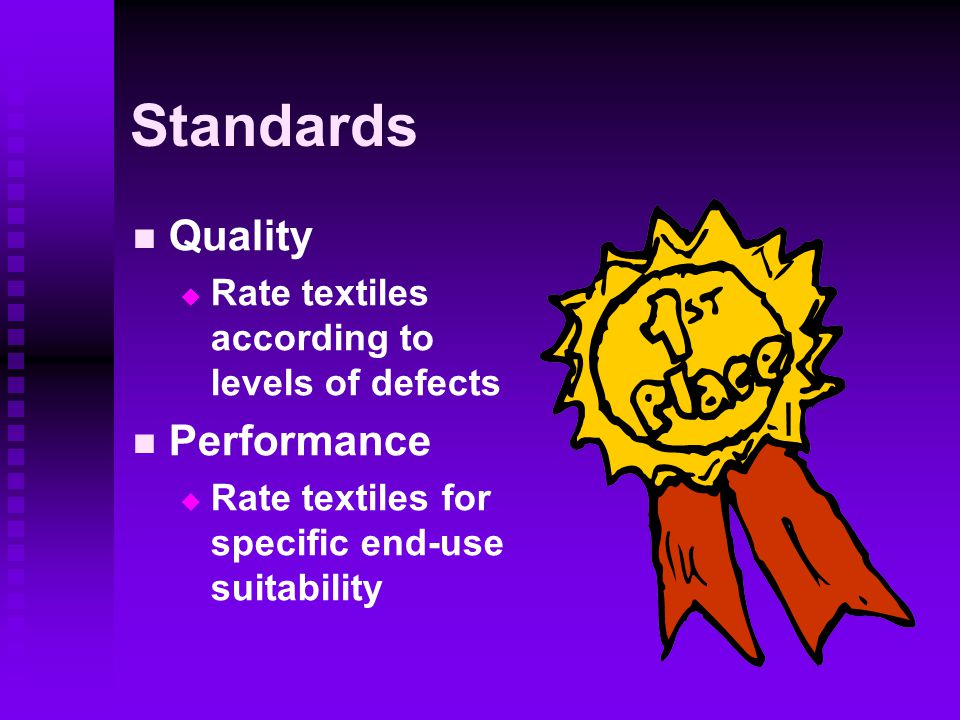 Standards Quality Performance