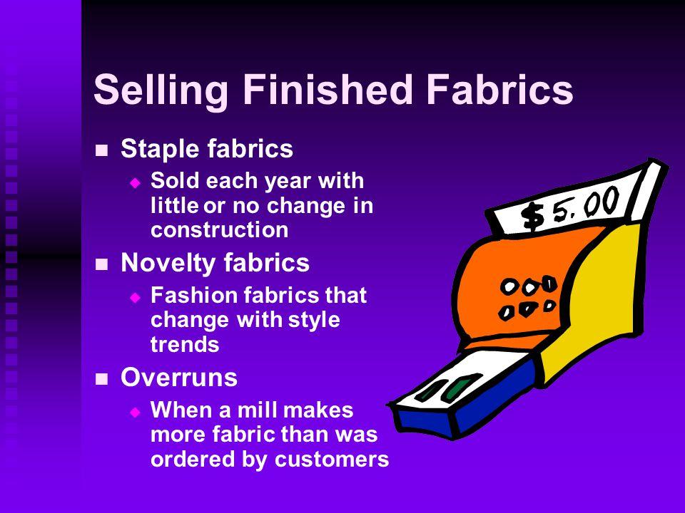 Selling Finished Fabrics