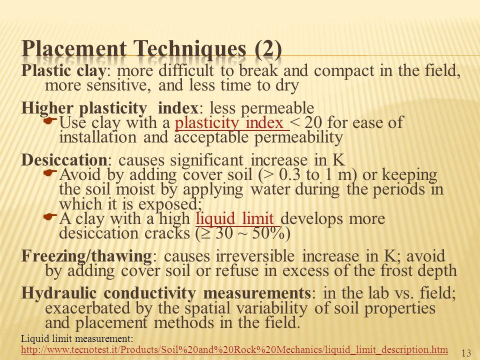 Placement Techniques (2)