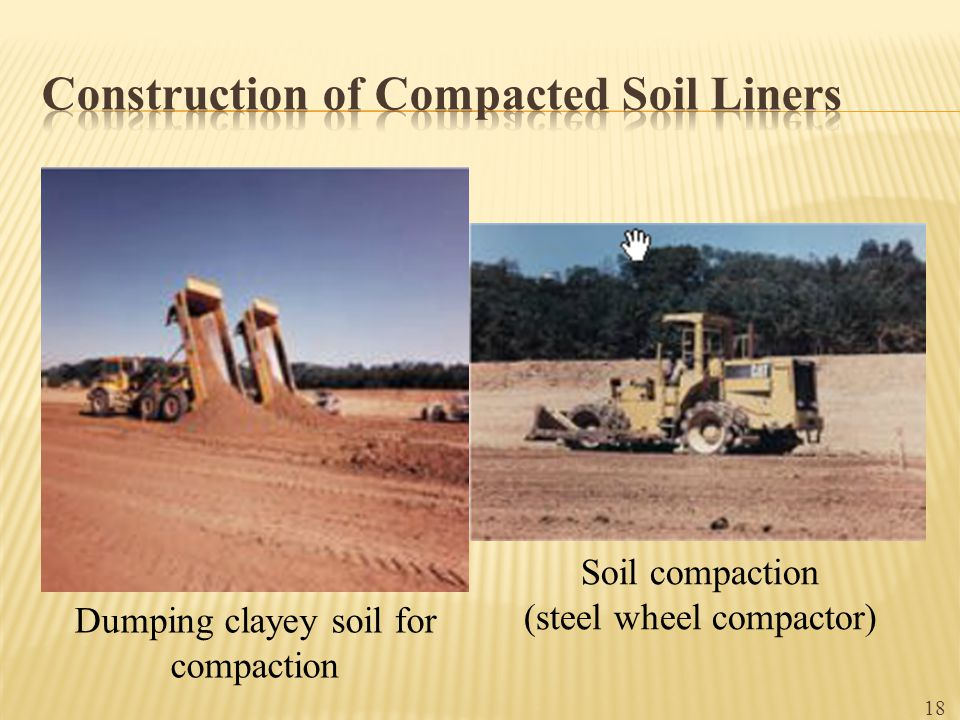 Construction of Compacted Soil Liners