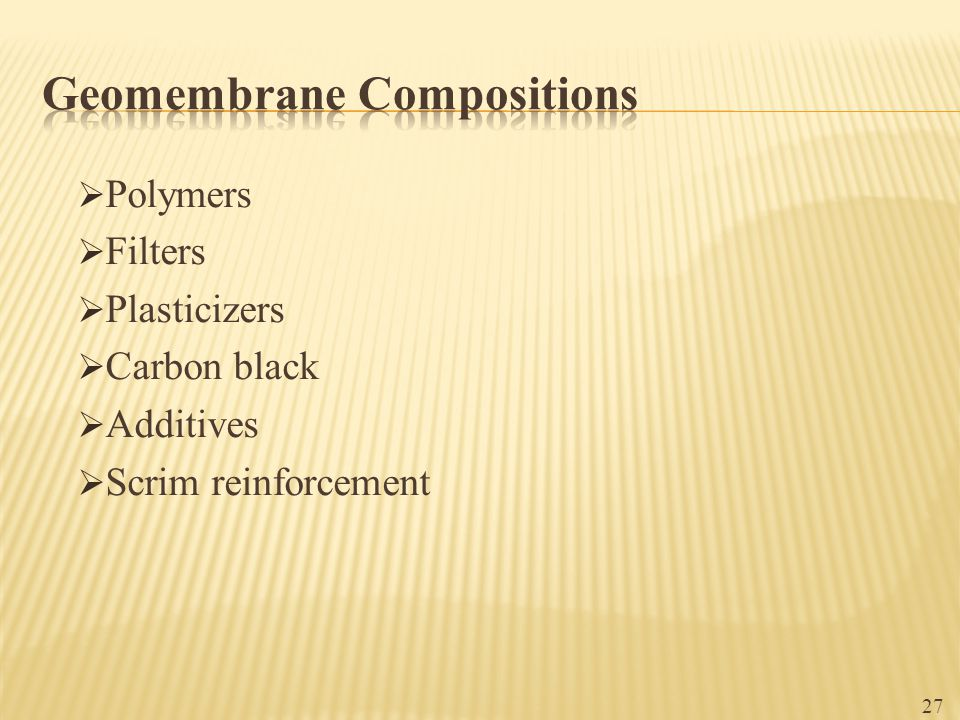 Geomembrane Compositions