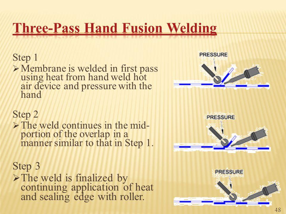 Three-Pass Hand Fusion Welding