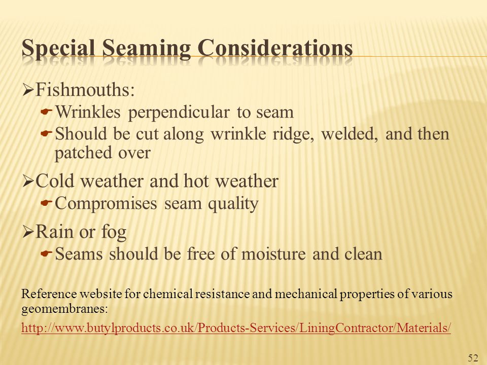 Special Seaming Considerations