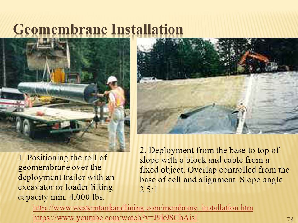 Geomembrane Installation