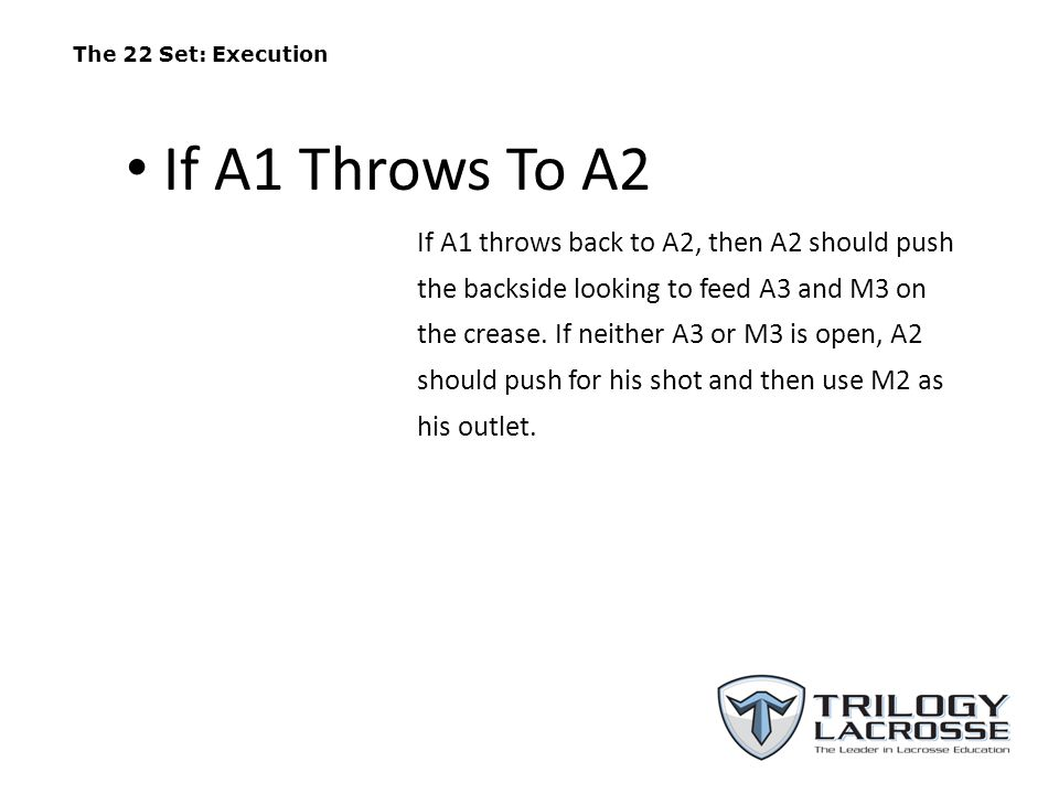 The 22 Set: Execution If A1 Throws To A2.