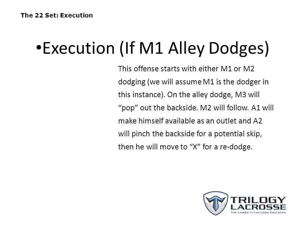 Execution (If M1 Alley Dodges)